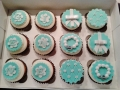 Tiffany Inspired Birthday Cupcakes