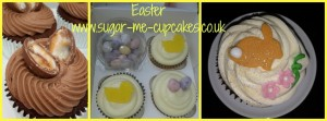 Selection of chocolate Easter themed cupcakes