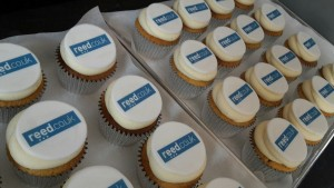 Branded Reed Company Logo Cupcakes